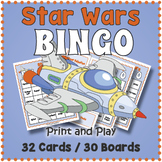 Star Wars BINGO Game - May the 4th Be With You