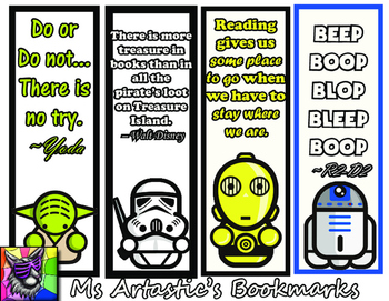 picture relating to Star Wars Bookmarks Printable known as Star Wars Bookmark Worksheets Instruction Products TpT