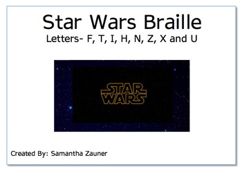 Star Wars Braille File Folder Game