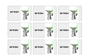 Star Wars Break Cards