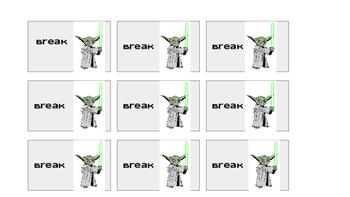 Star Wars Break Cards