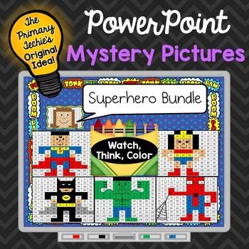 Superhero Bundle Watch, Think, Color Games - EXPANDING BUNDLE