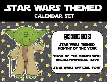 Star Wars Calendar Set