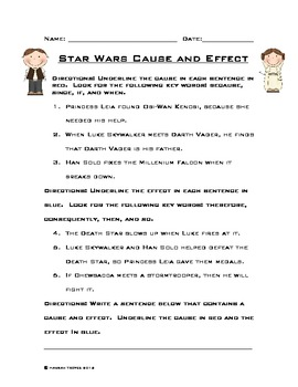 Star Wars Cause and Effect