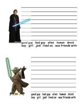Star Wars Character Writing Activities