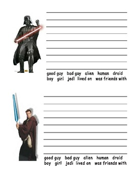 Star Wars Character Writing Activities