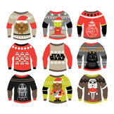 Star Wars - Christmas Ugly Sweaters - Clipart & Vector Set