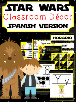 Star Wars Classroom Decor ~ Editable {SPANISH VERSION}