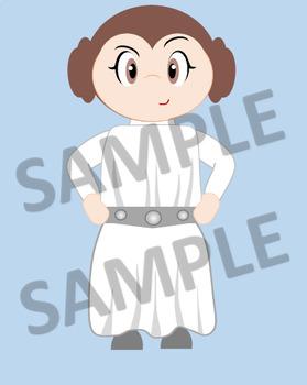 Star Wars -  Clip Art - Original Trilogy Characters