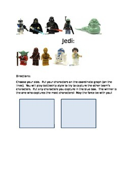 Star Wars Coordinate Graphing Game