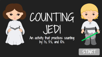 Star Wars Counting Jedi - Counting by 1's, 5's, and 10's to 120