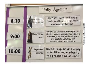 Star Wars Daily Agenda/Schedule