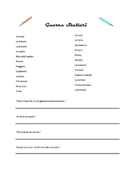 Star Wars Day - Italian Worksheet