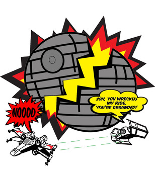 Star Wars Day Original Satirical Cartoon For Middle And High School