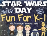 Star Wars Day Fun for K-1 *Print & Go* Activities