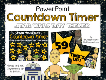 Star Wars Day *Star Wars Theme* PowerPoint Timer - Up to 60 Min!