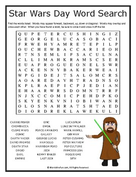 Star Wars Day Word Search Puzzle