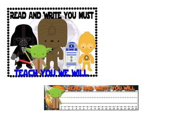 Star Wars Desk Nameplates & Class Poster