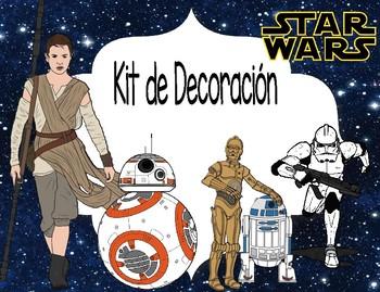 Star Wars Días, meses, name plate y números del calendario