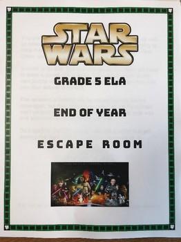 Star Wars ELA Grade 5 End of Year Escape Room