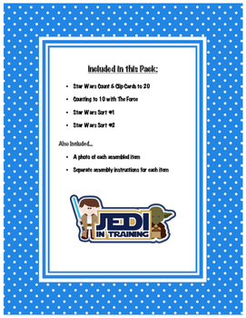 Star Wars Themed Early Math Skills Fun Pack