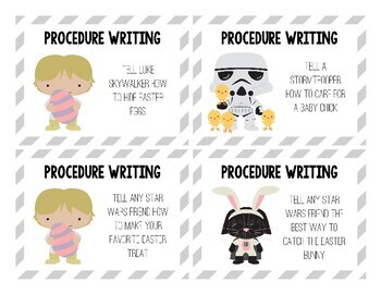 Star Wars Inspired Easter Writing Prompts