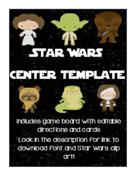 Star Wars Editable Board Game Center