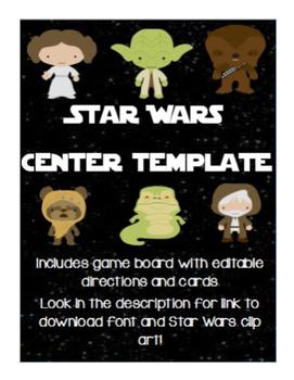 Star Wars Editable Board Game Center