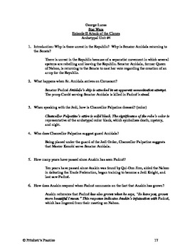 Star Wars Episode II Attack of the Clones Archetype Lesson Plan and Study Guide