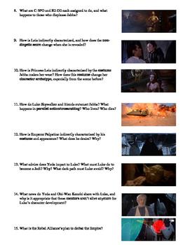 Star Wars Episode VI: Return of the Jedi Film (1983) Study Guide Movie Packet