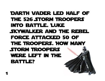 Star Wars Equation Match