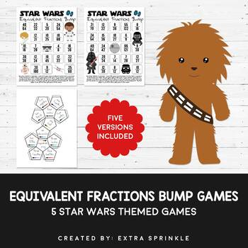 Star Wars Inspired Equivalent Fractions Bump Games