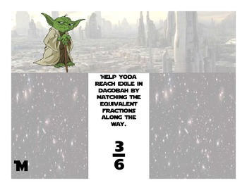 Star Wars Equivalent Fractions Puzzle