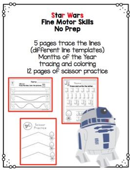 "Star Wars Fine Motor Skills ""No Prep"""