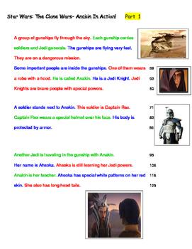 Star Wars;Anakin In Action!  Fluency 4th Grade Level, Lexi