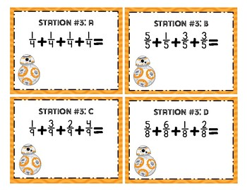 Star Wars Force Fraction Task Cards