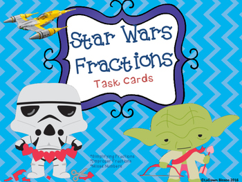 Valentines Day: Star Wars Fractions Task Cards