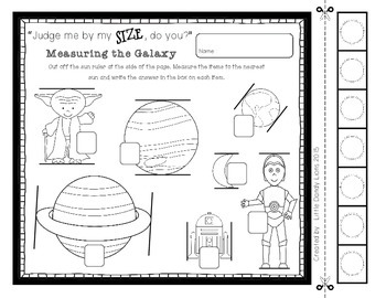 Star Wars Galaxy Math Activities