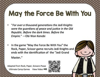 Star Wars Game Series:  May the Force Be With You