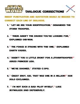 Star Wars Grammar Packet