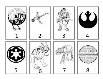 Star Wars Grouping Cards--Black-and-White Version