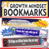 Star Wars Decor Growth Mindset Bookmarks Shelf Markers Desk Name Plates-EDITABLE