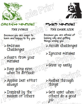Star Wars Growth Mindset Poster #Spedislucky