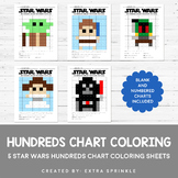 Star Wars Inspired Hundreds Chart Coloring Pages