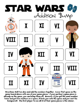 Star Wars Inspired Addition Bump Games