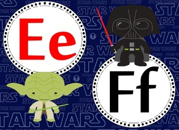 Star Wars Inspired Alphabet 2