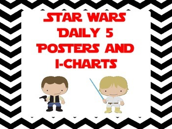 Star Wars Inspired Daily 5 Posters and I-Charts
