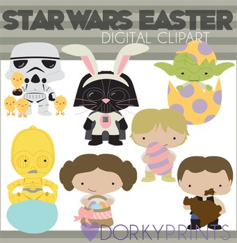 Star Wars Inspired Easter Clip Art