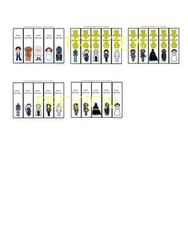Star Wars Inspired Editable Bookmarks