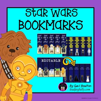 Star Wars Inspired Editable Bookmarks